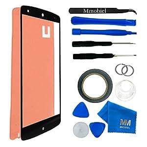 Kit de remplacement d'écran tactile pour LG GOOGLE NEXUS 5 (D820 D821) NOIR; inclus : Vitre de rechange; Pincette; Ruban adhésif 2mm; Chiffon microfibre; Kit d'outillage spécifique; fil métallique