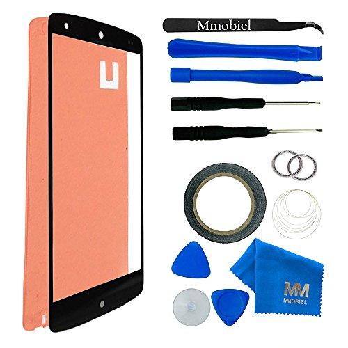 Kit de Reemplazo de Pantalla Táctil para LG GOOGLE NEXUS 5 D820 D821 Negro Incluye Pinzas / Cinta adhesiva 2 mm / Kit de Herramientas / Limpiador de Microfibra / Alambre Metálico MMOBIEL