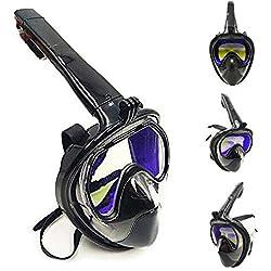 HUOFEIKE Masque respiratoire Enduit, équipement de plongée avec Support Appareil Photo, Tube de Protection en Silicone, approprié pour Hommes et Femmes,S/M