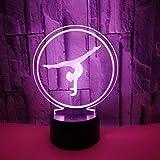 Créatif 3D Gymnastique Nuit Lamp...