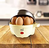 Neo® Stainless Steel Cream Electric Egg Cooker Boiler Poacher & Steamer Fits 7 Eggs