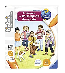Ravensburger tiptoi Je découvre Les musiques du Monde Libro Música Francés - Libros (Música, Francés, 4 año(s), 7 año(s), Cualquier género, 250 mm)