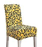 Gelb und Schwarz Elastischer Home Chair Schonbezug
