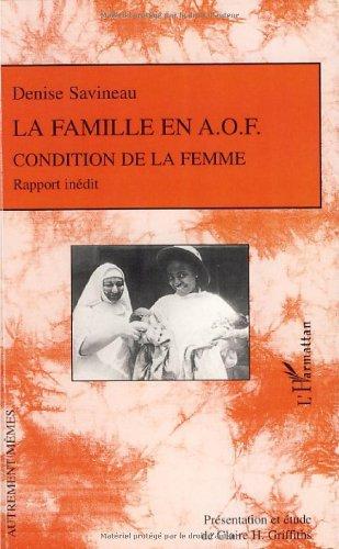 La famille en A.O.F : Condition de la femme