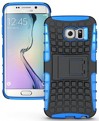 Plus Shock Proof Protective Rugged Armor Super Hybrid Heavy Duty Back Case Cover For Samsung Galaxy S7 – Power Blue