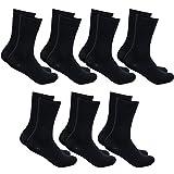DAILYSOXX Herren Classic Business Socken Everyday mit Softrand ohne Gummidruck 7-14 - 21 Paar, Größe:47-49, Farbe:Schwarz - 7er Pack