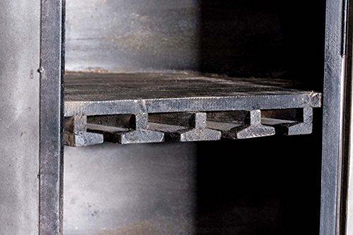 CLP Weinschrank Chicago aus Holz I Barwagen mit DREI Ablagen und Laufrollen I Mobile Weinbar I In Verschiedenen Farben erhältlich Antik Braun - 6