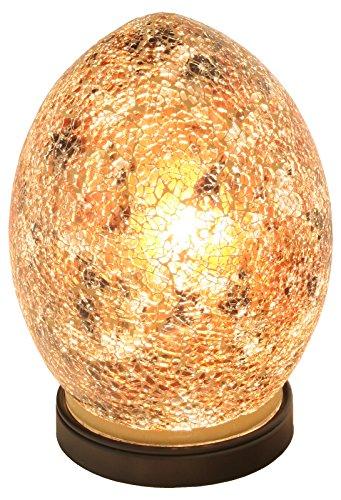 Mosaic Glass Egg Lamp, Glass, Gold, Mini