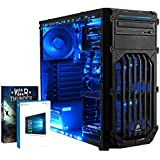 Vibox Ultra 11 Gaming PC - with Warthunder Game Bundle, Windows 10 (3.1GHz AMD A8 Quad Core Processor, Radeon R7 Graphics Chip, 1TB Hard Drive, 8GB RAM, Corsair Spec-01 (Blue) Case)