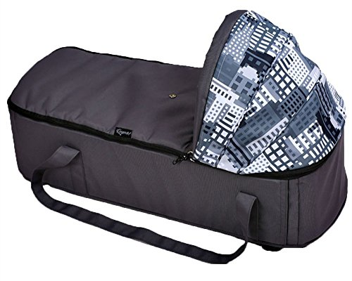 LINAG Baby Reisebett Krippe Portable Faltbare Bed Travel Wiege Bequem Schlafkorb Bassinet Tragbares Babybett ,Black