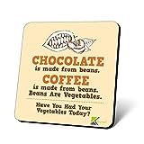 cs676Schokolade ist aus Bohnen. Kaffee ist aus Bohnen. Bohnen sind Gemüse. Haben Sie Ihr Gemüse Heute?...