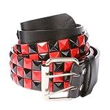 Accessoryo - Cinturón - para hombre, Rojo Y Negro, 115 cm