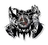 Gift.Time.UK2000 Batman Vinyle Horloge Murale–Fait Main Décoration de Maison et Idée de Cadeau pour Toutes Les Occasions