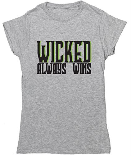 hippowarehouse-wicked-always-wins-womens-fitted-short-sleeve-t-shirt