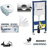 Geberit Duofix Keramag Renova Nr. 1EU-Modell WC réservoir Kit complet + Couvercle Fermeture en douceur, sans marge Kera Tect Revêtement Delta 11Chromé