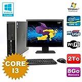 Pack PC HP Compaq 6200 Pro SFF Core i3 3.1GHz 8gb 2To DVD WIFI W7 + Bildschirm 17
