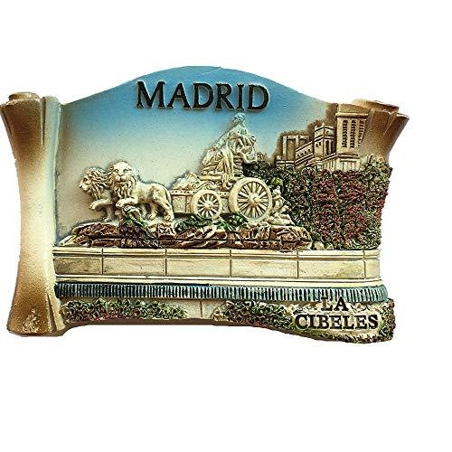 Madrid Spanien 3D Kühlschrankmagnet Reise Aufkleber Souvenir, Home & Küche Dekoration, Spanien Kühlschrank Magnet (Magnet Madrid)