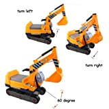 Enlarge toy image: deAO Ride On Excavator / Digger 2in1 for Toddlers Pedal Free Vehicle Includes Two Different Extensions