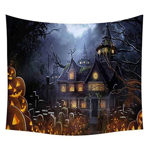 Halloween Tapisserie Schädel Kürbis Wandbehang Dekorative Wand Teppich Heimat Wanddekoration ()