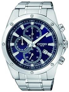 Citizen Fly-back Chronograph AN3530-52L - Reloj para hombres, correa de acero inoxidable color plateado de Citizen