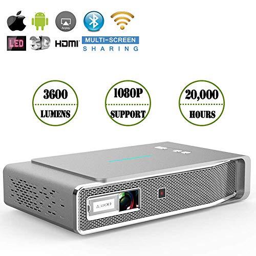 Ai LIFE Tragbarer 3D 4000 Lumen LED-Videoprojektor HD DLP-Heimkinoprojektor Mit 1080P-Unterstützung, Wireless Projector-kompatiblem PC, Mac, Fernseher, USB.Outdoor-Spiel, Büro