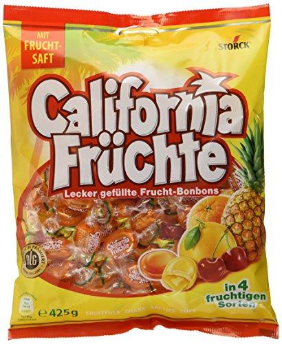 California Früchte – Fruchtige Lutschbonbons mit Fruchtsaftfüllung in verschiedenengeschmacksrichtungen wie Ananas &grapefruit – (15 x 425g Beutel)