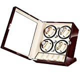 JIANBO Uhrenbeweger Fur Automatikuhren 8+5 Uhren,Watch Winder Box Für Rolex Automatikuhren/Uhrenkasten Uhrenbox/Uhrendreher/Uhren Box,Red+White