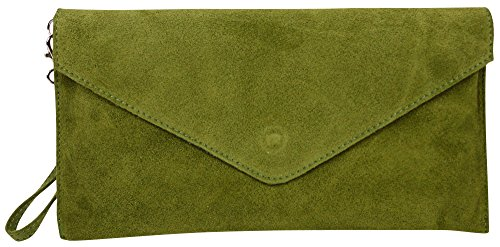 Big Handbag Shop, Borsetta da polso donna One Olive Green