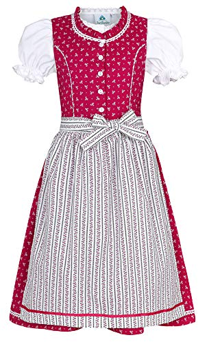 Isar-Trachten Kinder Dirndl Julienne - Pink Gr. 110