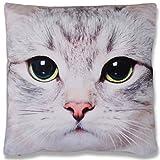 Bestlivings Dekokissen Fotodruck Motiv in 40x40 cm, Flauschig weiches Kissen in vielen Motiven erhältlich (Design: Katze)