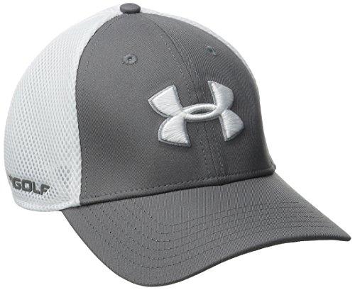 under-armour-2016-mens-ua-golf-mesh-stretch-20-cap-graphite-white-l-xl