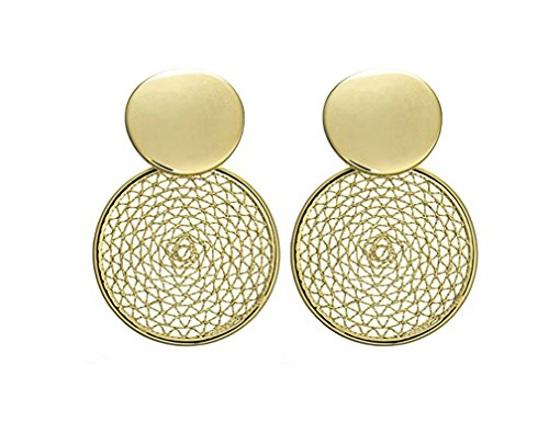 Aeici Ohrringe Vergoldet Damen Drehrad Silber Ohrringe Damen Hängend