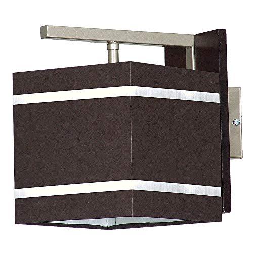 Wandleuchte in Braun Chom Bauhausstil 1x E27 bis zu 60 Watt 230V aus Stoff & Metall Flur Wohnzimmer...