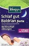 Kneipp, Schlaf gut Baldrian forte, 2er Pack (2 x 30 Dragees)