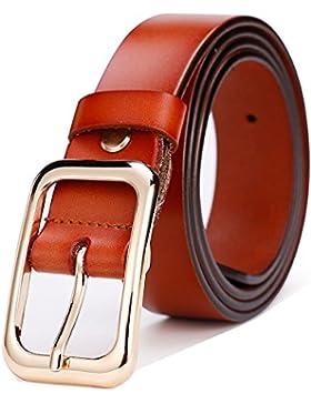 Cinturón Femenino De Cuero Simple Salvaje Ancho Japonés Palabra Pin Hebilla Vestido Jeans Cinturón De Moda