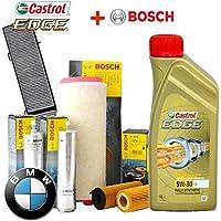 Kit de revisión y aceite Castrol Edge (6 litros) y 4 filtros