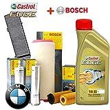 Inspektionskit Öl Castrol EDGE 5 W30 6lt + 4 Filter Bosch (1457429185, 1457433588, F026402085, 1987432424)