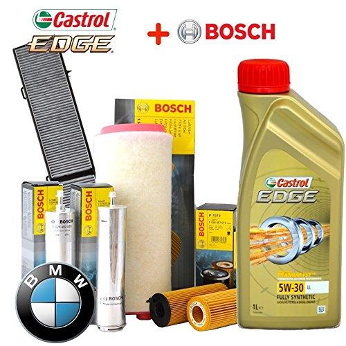 Kit tagliando olio CASTROL EDGE 5W30 6LT 4 FILTRI BOSCH ORIGINALI (1457429185, 1457433588, F026402085, 1987432424)