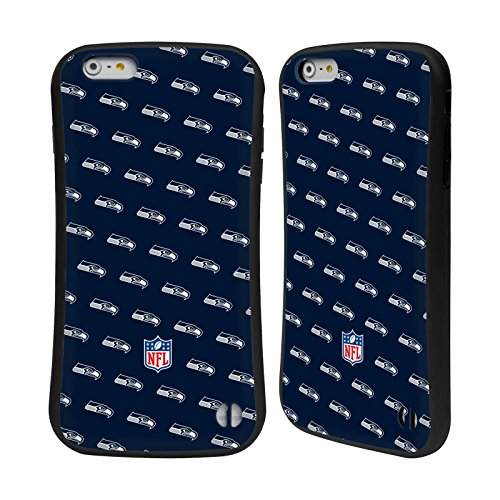 Ufficiale NFL Marmo 2017/18 Seattle Seahawks Case Ibrida per Apple iPhone 7 / iPhone 8 Pattern