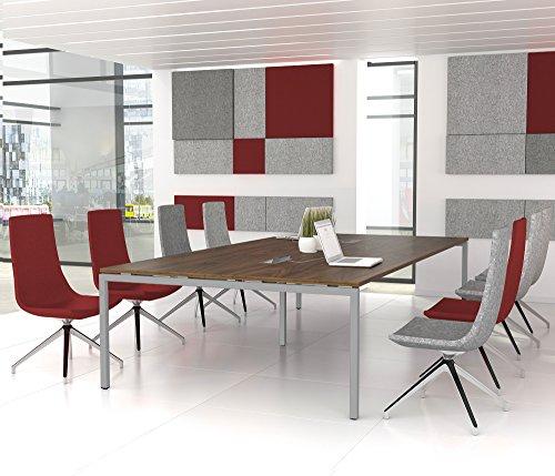 NOVA Konferenztisch 320x164cm Nussbaum mit ELEKTRIFIZIERUNG Besprechungstisch Tisch,...