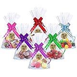 MELLIEX 100pcs Sacchetti Biscotti di Natale Caramelle di Trasparenti Sacchetti di Richiudibili Autoadesivi