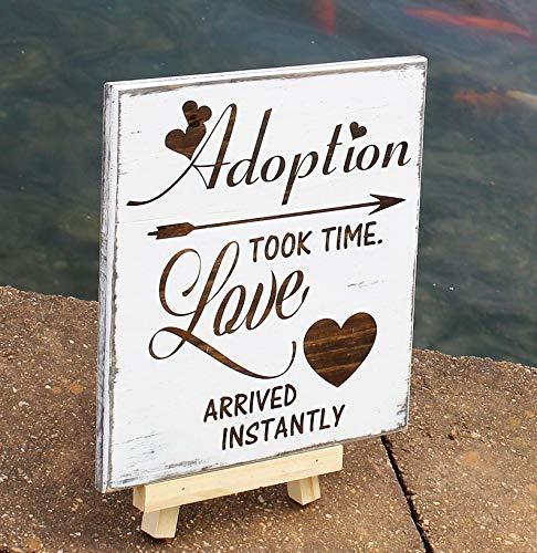 CELYCASY Adoption Gifts, Adoption Sign, Adoption Day, Adoption Announcement, Holzschild, Adoption Wall Art, Adoption Kinderzimmer Dekor, Adoption Plakette