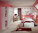 Dreams4Home Kinderzimmer 'Princess', Jugendzimmer, Mädchenzimmer, komplett, rosa, Jugendbett, Bettkasten:ohne Bettkasten