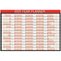 New Style 2020 Year Planner A1 Large Laminated Wall-Planner 85cm x 58cm With Dry Wipe Marker Pen & Sticker Dots
