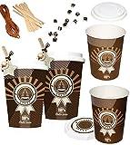 """24 Stück _ Geschenkboxen / Papierboxen - """" Coffee to go / Glühwein & Kaffee Becher """" - zum Befüllen - aus Papier / selber Basteln - für Erwachsene / Kinder / Mädchen Jungen - z.B. Adventskalender Weihnachten - SelbstBefüllen - lustig - machen gestalten - selbst befüllen - Wichtelgeschenk - Geschenktütchen - Geschenkboxen / Schachteln / Kaffeebecher"""
