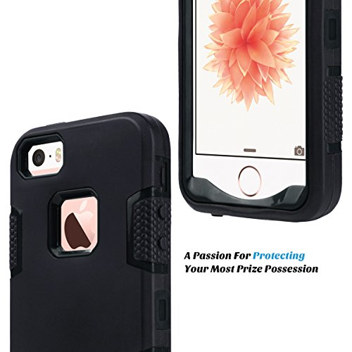 ULAK - Cover iPhone 5S  iPhone SE Custodia ibrida a protezione