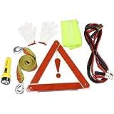 Cuerda de remolque Bootster cable antorcha Glove Chaleco reflectante coche kit de emergencia
