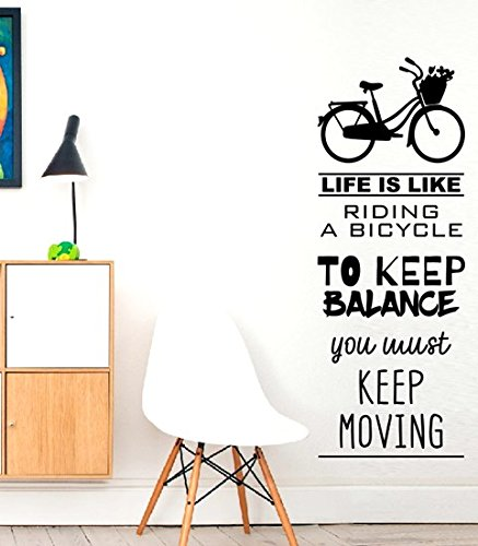 Life is like riding a 700...???Dreams Home Love Live, inspirierendes Zitat Motivation Aufkleber Wand Zitat Aufkleber Aufkleber Wand Kunst, Familie Fun Zitat Love Home