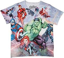 Marvel Avengers Multicolour Polyester T-Shirt for Boys DMA0003