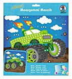 Ursus 8420009 - Moosgummi Mosaikbild, Monster Truck mit Glitter, ca. 25 x 27 cm